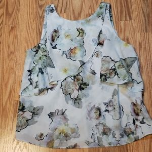 Beautiful Philosophy Flowy sleeveless Top sz XS